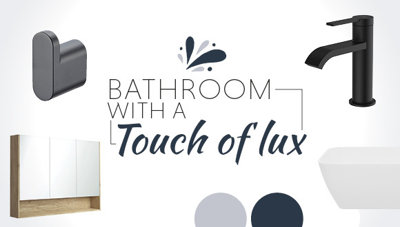 Bathroom with a Touch of Lux