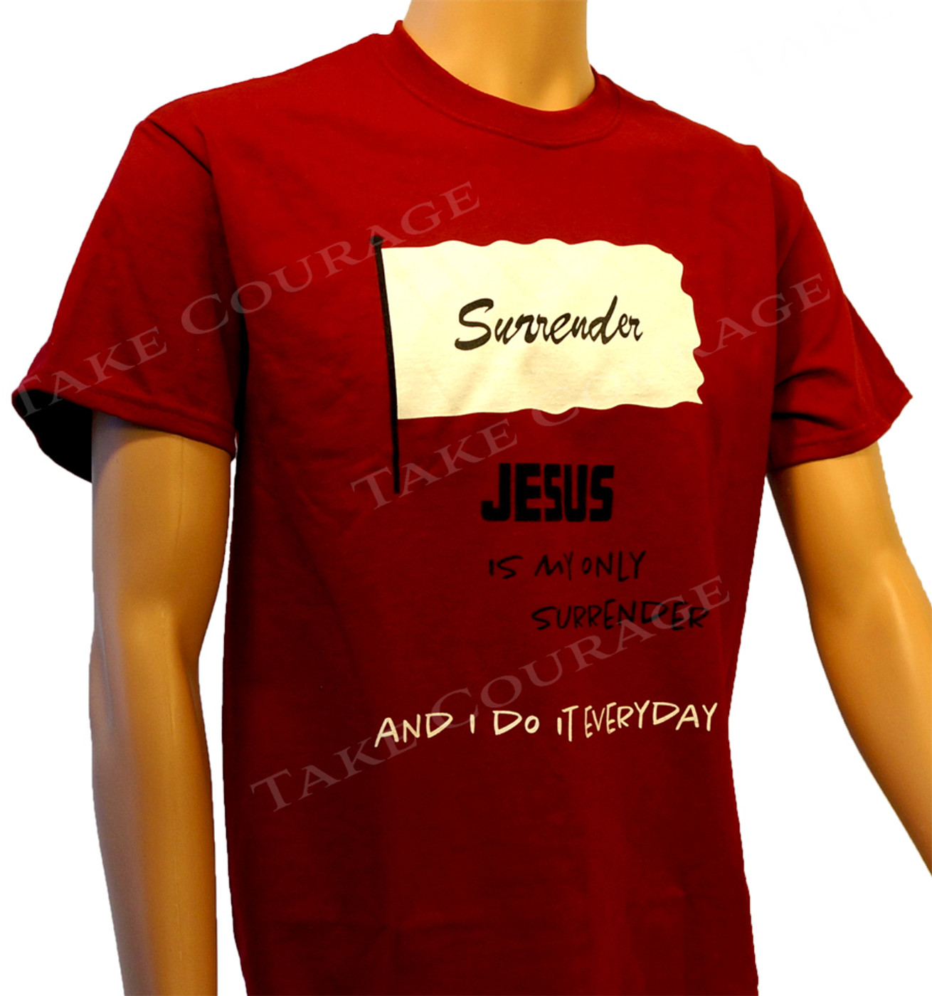 Surrender - Christian Shirt  - Red