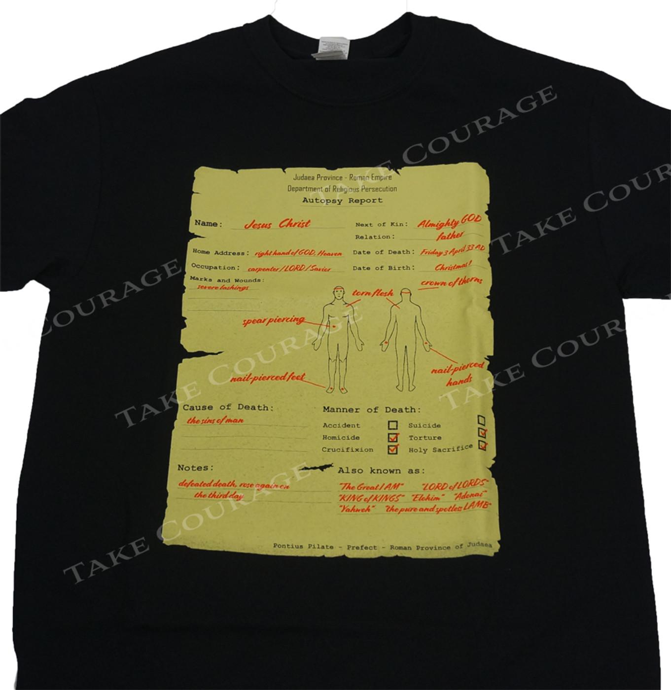 Jesus Autopsy  - Christian Shirt -Black
