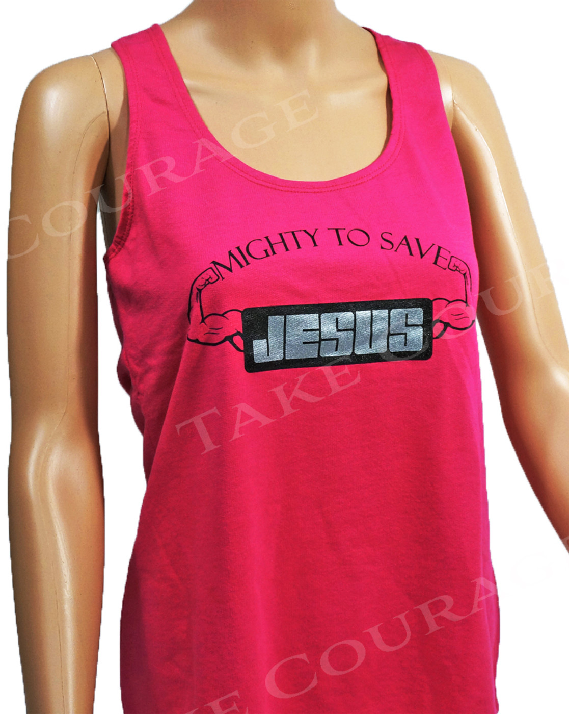 Jesus Muscle - Christian Shirt - Pink