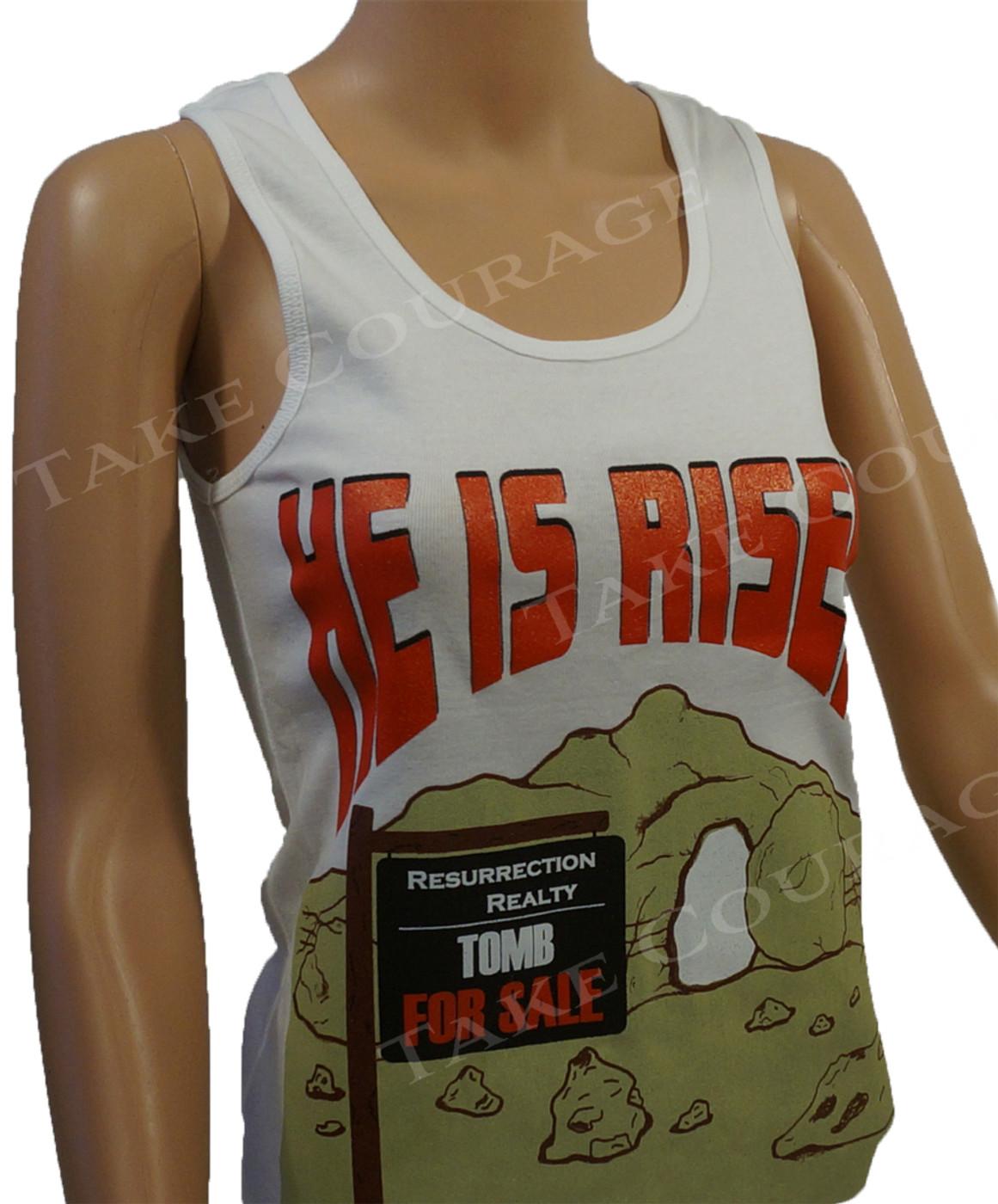 HE is Risen - Christian Shirt - White