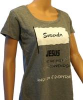 Surrender - Christian Shirt  - Gray
