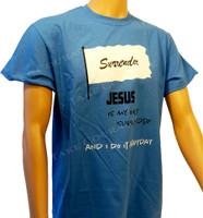 Surrender - Christian Shirt - Blue
