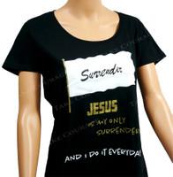 Surrender - Christian Shirt  - Black