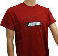 Jesus Muscle - Christian Shirt  - Red