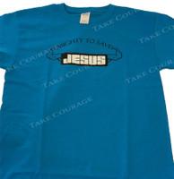 Jesus Muscle - Christian Shirt  - Blue