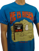 HE is Risen - Christian Shirt - Blue