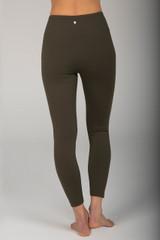 High Rise Activewear Dark Green Legging