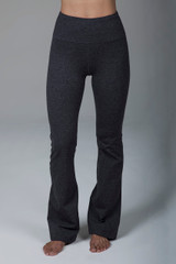 High Rise Flare Yoga leggings in Charcoal Grey front view