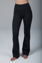 Compressive Black High Rise Bootcut Yoga Leggings front view