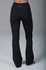 High Waisted Black Bootcut Yoga Pants back view