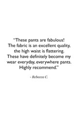 High Waist Wide Leg Pant (Black) Customer Review Quote