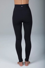 High Rise Lengthening Black Yoga Leggings back view