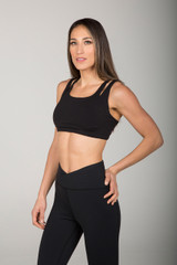 High Impact Breathable Sports Bra in Black