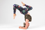 Kathryn Budig Wildflower Print Leggings and Tank Mix and Match Yoga Pose