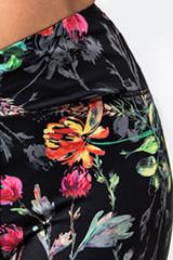 Vibrant Floral Pattern on Black Back Wildflower Print