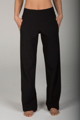 Bootcut Black Yoga Pant with Pockets front view