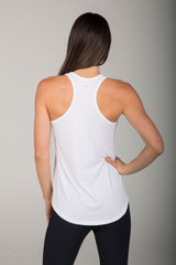 Long and Loose Yoga Racerback (White)