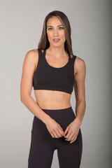 High Intensity Breathable Black Workout Bra