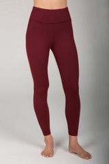 Deep Earth Red High Waist 7/8 Yoga Legging front view