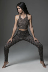 Perfect Leopard and Amber Floral Yoga Outfit