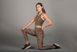 Perfect Leopard Animal Print Crop Top and legging set