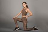 Perfect Leopard Animal Print Crop Top and legging set