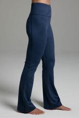 Ultra High Waist Goddess Bootcut (Iris Heather) side wide leg