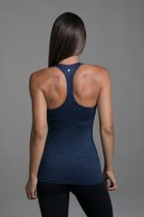 Grace Vinyasa Yoga Racerback (Iris Heather) sexy open back
