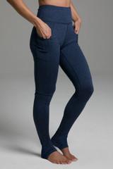 Pocket Yoga Legging (Iris Heather) cozy