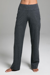 Cozy Traveler Pant (Charcoal Heather) front view ultra-soft fabric