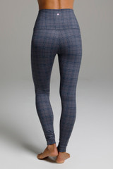 Ultra High Waist Yoga Leggings Plaid Print back view