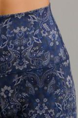 Dark Blue Paisley Pattern Navy Medallion print
