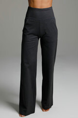 High Waist Wide Leg Pant (Charcoal Grey) front straight view