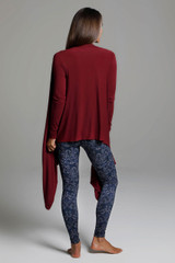 Knit Yoga Wrap (Sienna) back view swingy cardigan