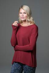 Perfect Long Sleeve Yoga Tee (Sienna) side
