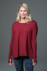 Perfect Long Sleeve Yoga Tee (Sienna) front