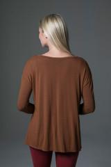 Perfect Long Sleeve Yoga Tee (Bronze) back