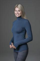 Form Flattering Blue Long Sleeve Yoga Top