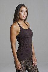 Supportive Yoga Tank Top in Mahogany Brown