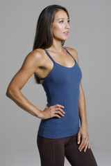 Supportive Yoga Tank Top with Built-in Shelf Bra