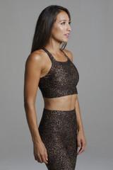 Supportive Yoga Sports Bra in Leopard Pattern