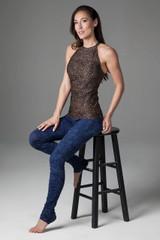 Grace Yoga Halter (Perfect Leopard)