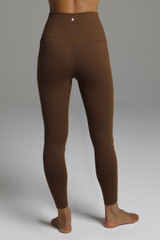 Form Flattering Fall Yoga Leggings back view