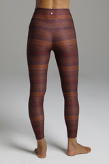 Form Flattering High Rise Yoga Tights in Tapestry Pattern back view