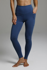 High Waist Oceana Blue Yoga Leggings
