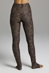Flirt High Waist Yoga Tights Leopard Print back view