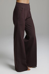 Mahogany Brown Loose Fitting Yoga Pants