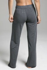 Grey French Terry Lounge Bottoms back view