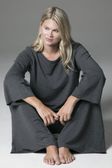 Cozy Sweatshirt and Yoga Pant Lounging Outfit